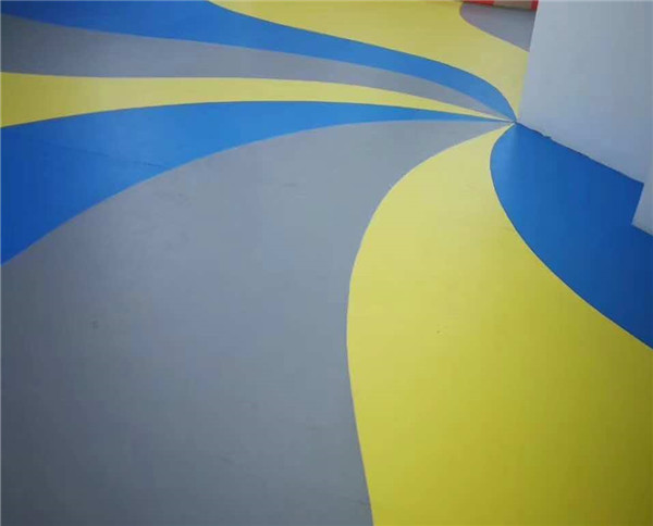 陕西pvc塑胶地板施工案例