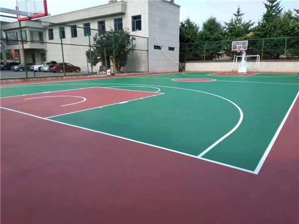篮球场硅PU地面