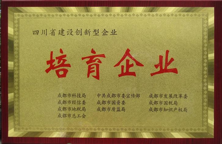 成都嘉泽正达科技有限公司培育企业证书