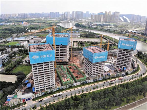 中国五冶-艺尚锦江项目4#楼全钢爬架顺利拆除