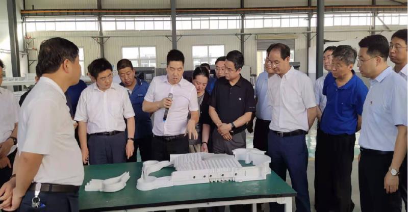 2019年重点项目建设现场会陕西省发改委及宝鸡市委全县主要领导亲临维纳霍斯车间调研考察