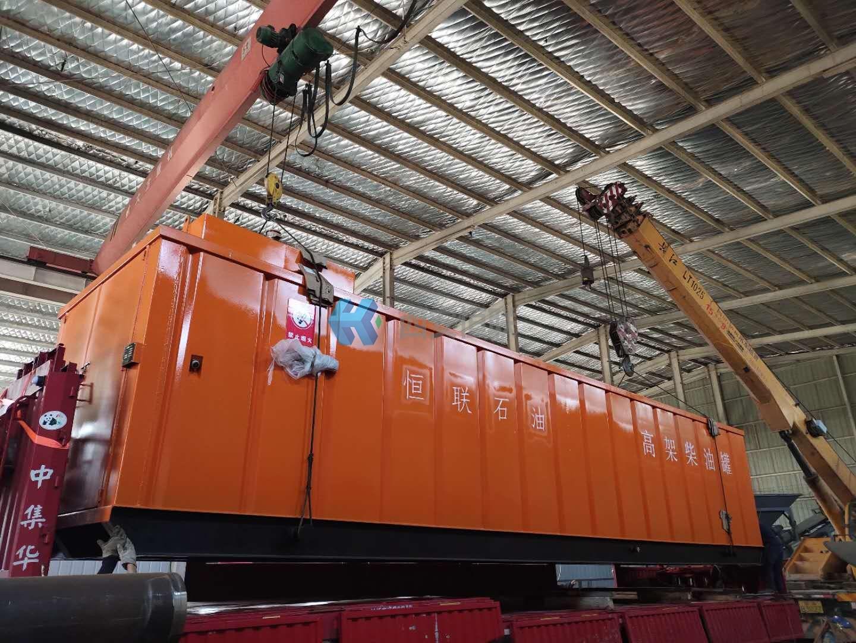高架柴油罐已经生产完工,准备发往山东
