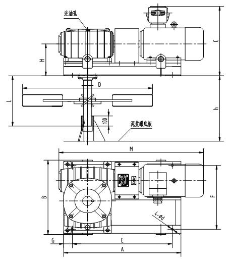 泥浆搅拌器内部结构图