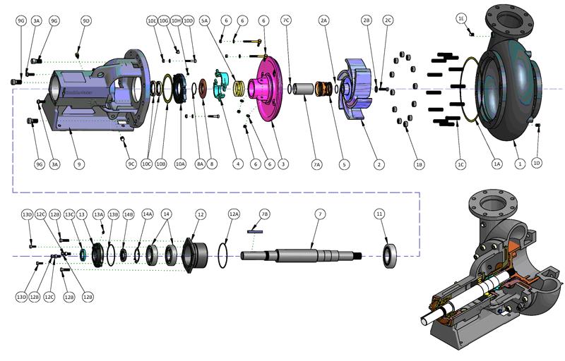 SB系列油田砂泵结构图