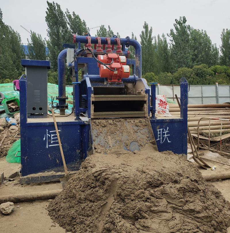 非开挖HMC系列泥浆净化装置现场使用