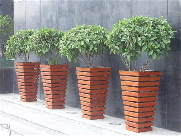 户外防腐木木制花箱