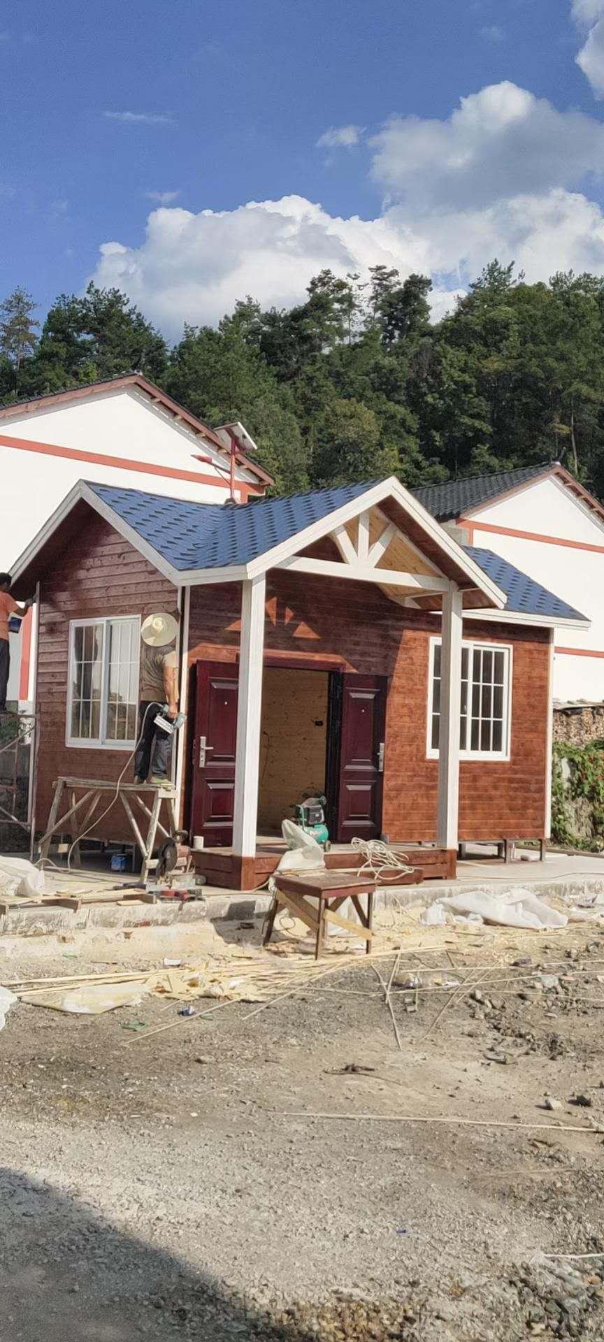 为景区进行木屋的安装设计施工