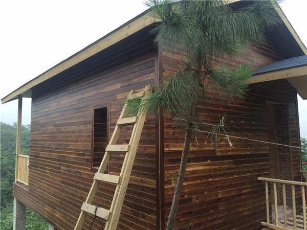 宜昌木屋别墅建造厂家轻型防腐木别墅设计