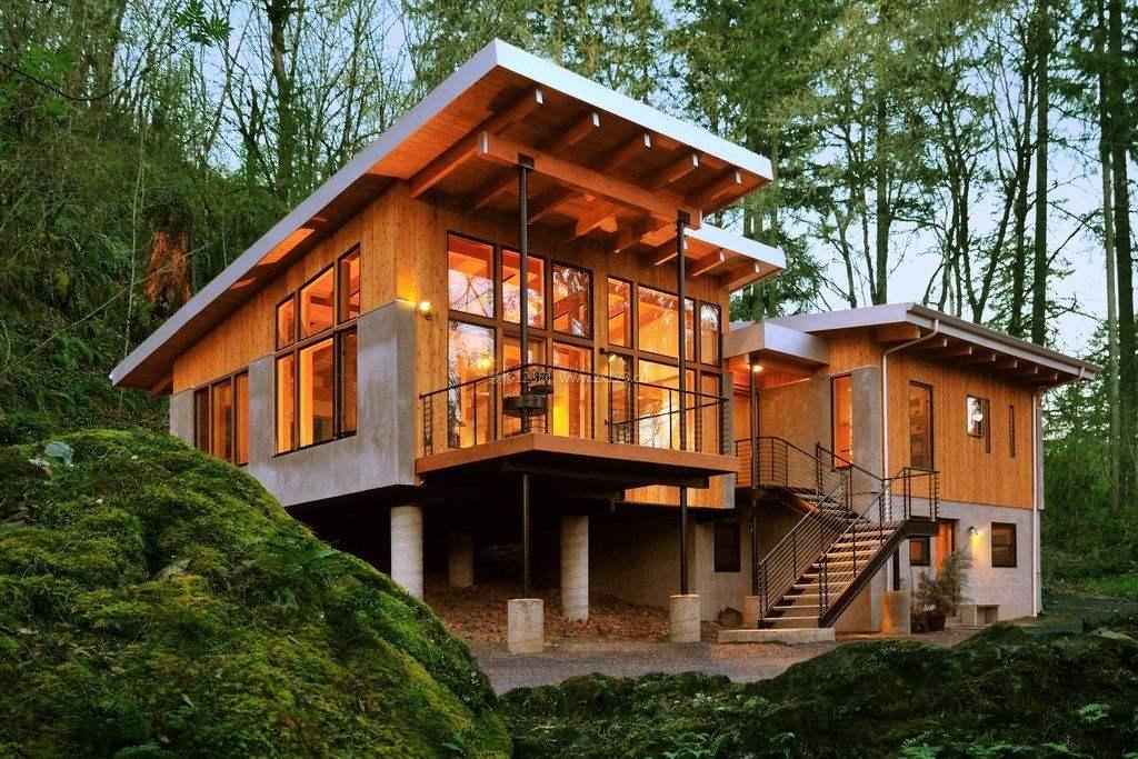 南北方都可以看见木屋别墅的身影,不同地区之间搭建的木屋还是有较大区别的