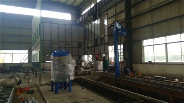 机械回收喷砂房现场安装案例