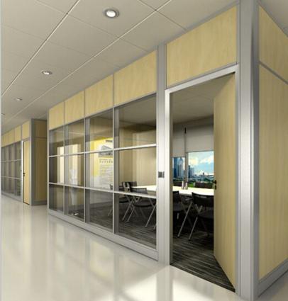 内置的成都玻璃百叶隔墙的安装细节