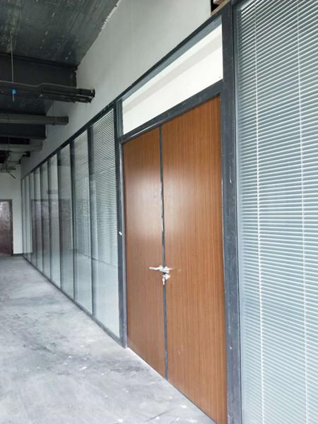 郫都区精密仪器厂加强型中空百叶办公玻璃隔断
