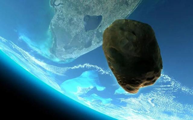 一颗高楼大小行星飞过地球