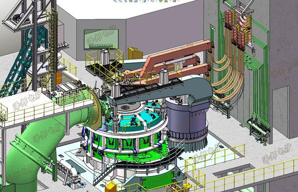 电弧炉部件效果图展示