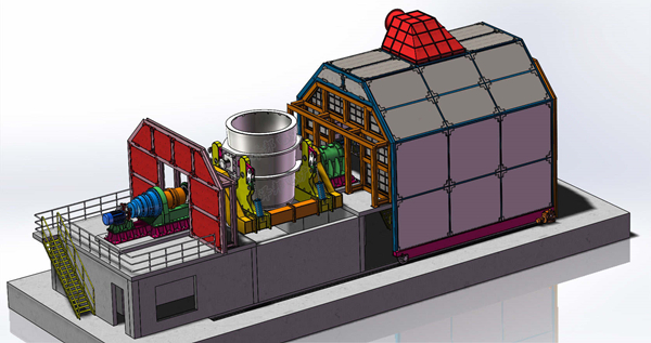 热烈祝贺150t钢铁包倾翻机构顺利投运