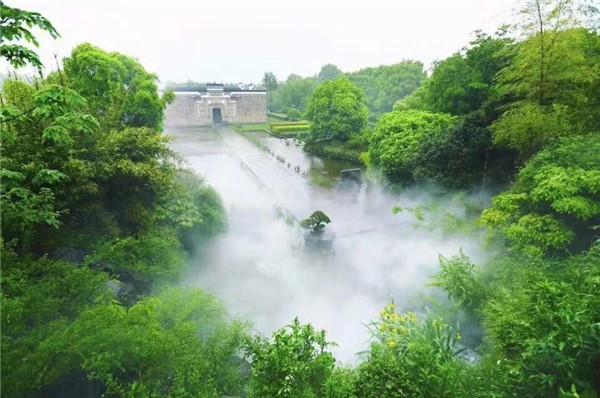 雾森人造雾喷雾造景设备的景观景点运用