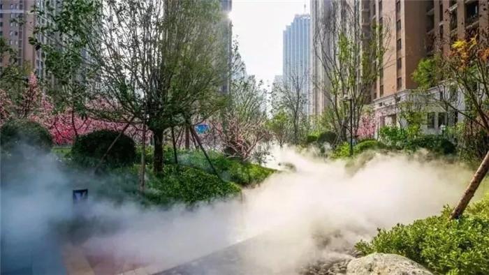 人造雾在园林造景中的应用及注意事项
