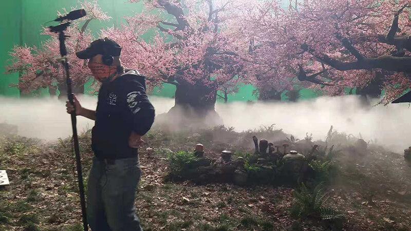 三生三世十里桃花现场喷雾造景