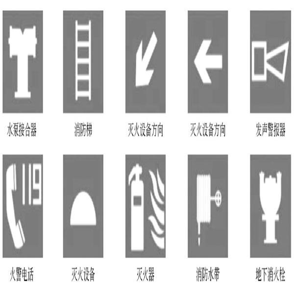消防安全引导标识图