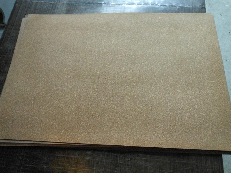 黄色软木橡胶剖切纸