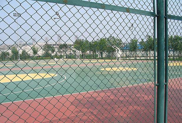 四川球场围栏网安装成功案例