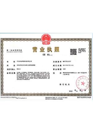 西安紫光环保营业执照
