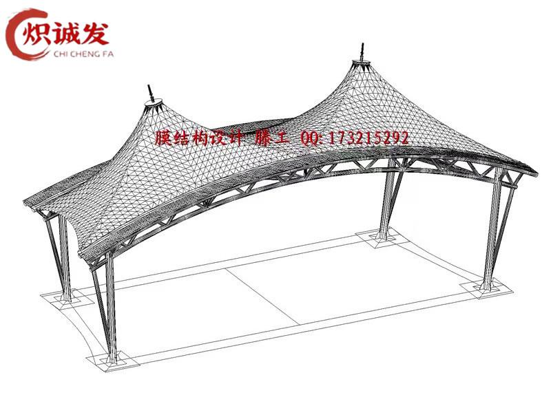重庆膜结构车棚设计