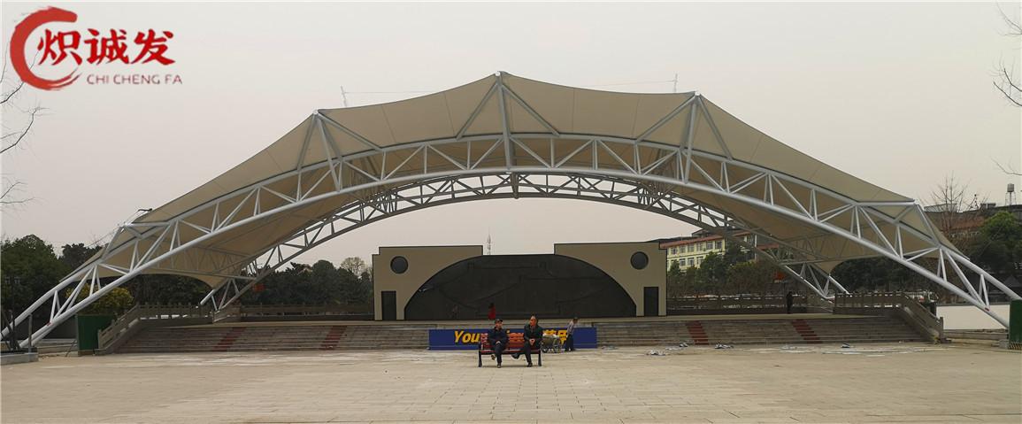 黄甲广场舞台膜结构工程
