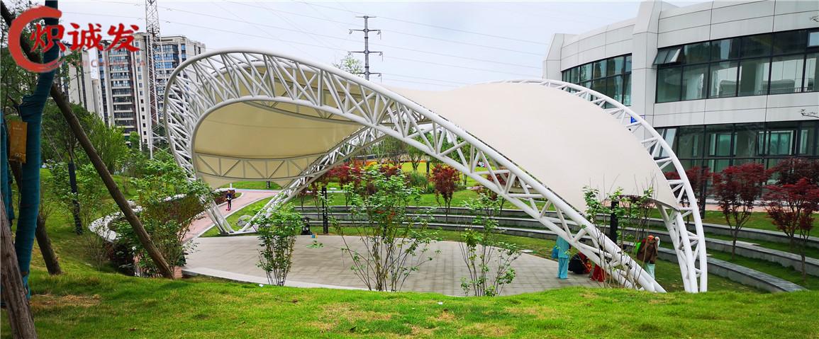 四川膜结构公司-土龙路一号馆舞台膜结构工程