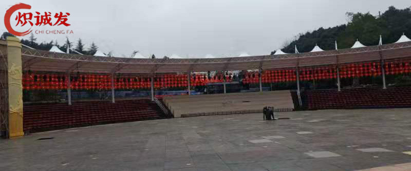 铜梁仙女洞舞台膜结构工程