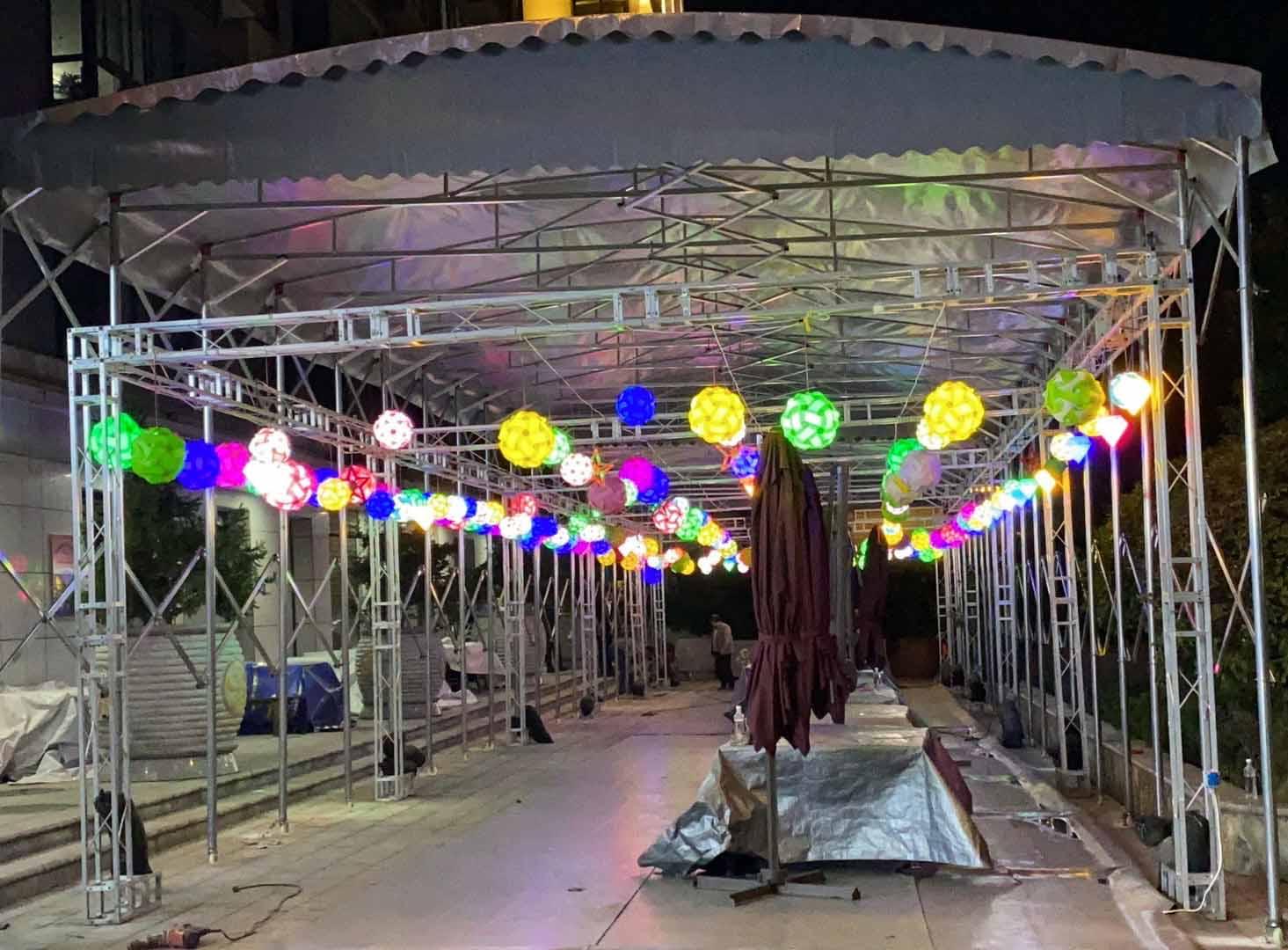 天宇菲尔德国际大酒店夜市雨棚