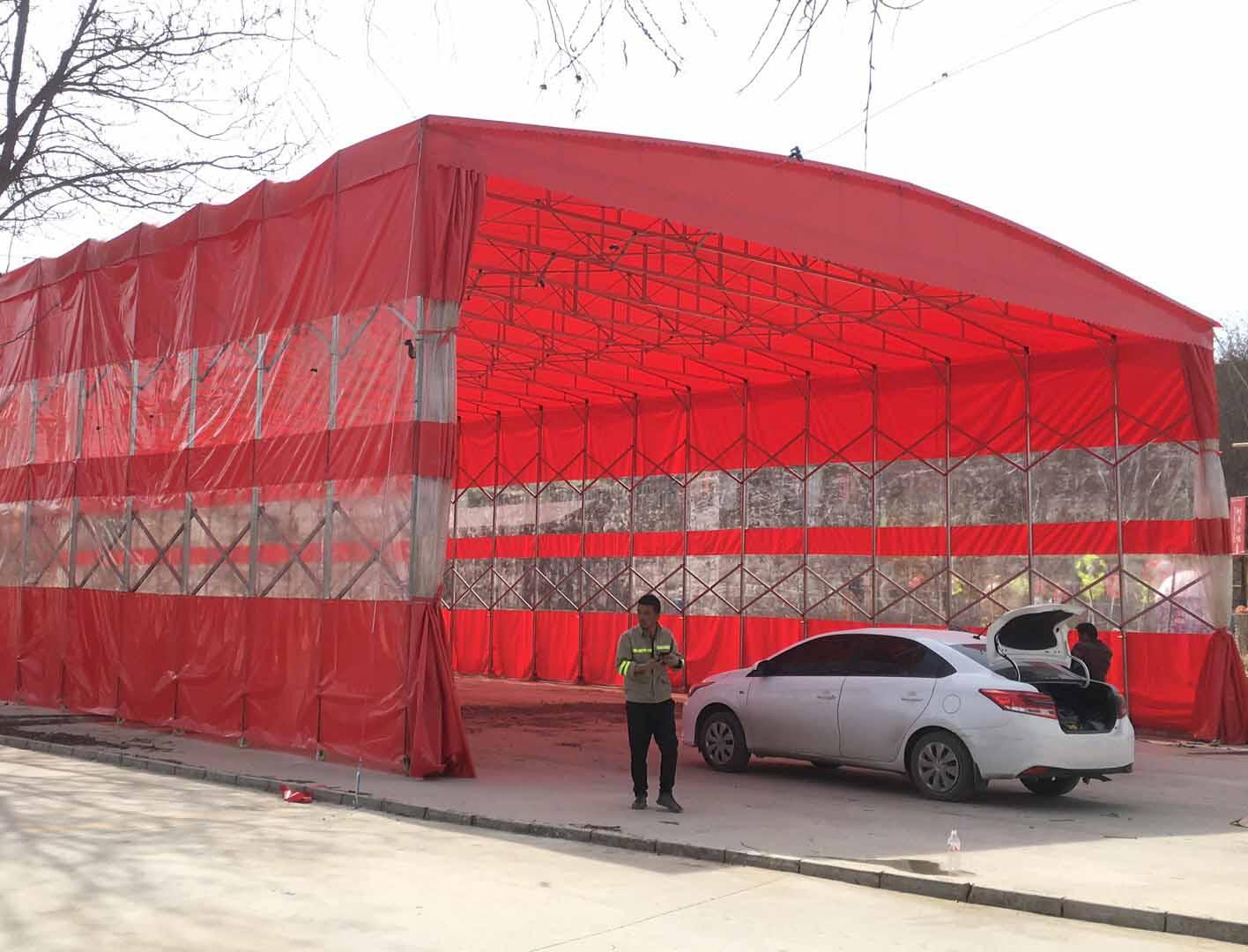 中赛钢结构带你了解西安移动式雨棚