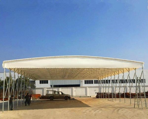 陕西中赛钢结构推拉雨棚都适用于哪些场合使用?