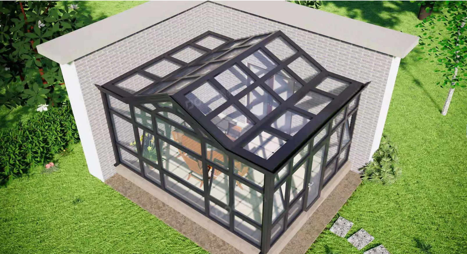 大同工厂定制铝合金庭院阳光房