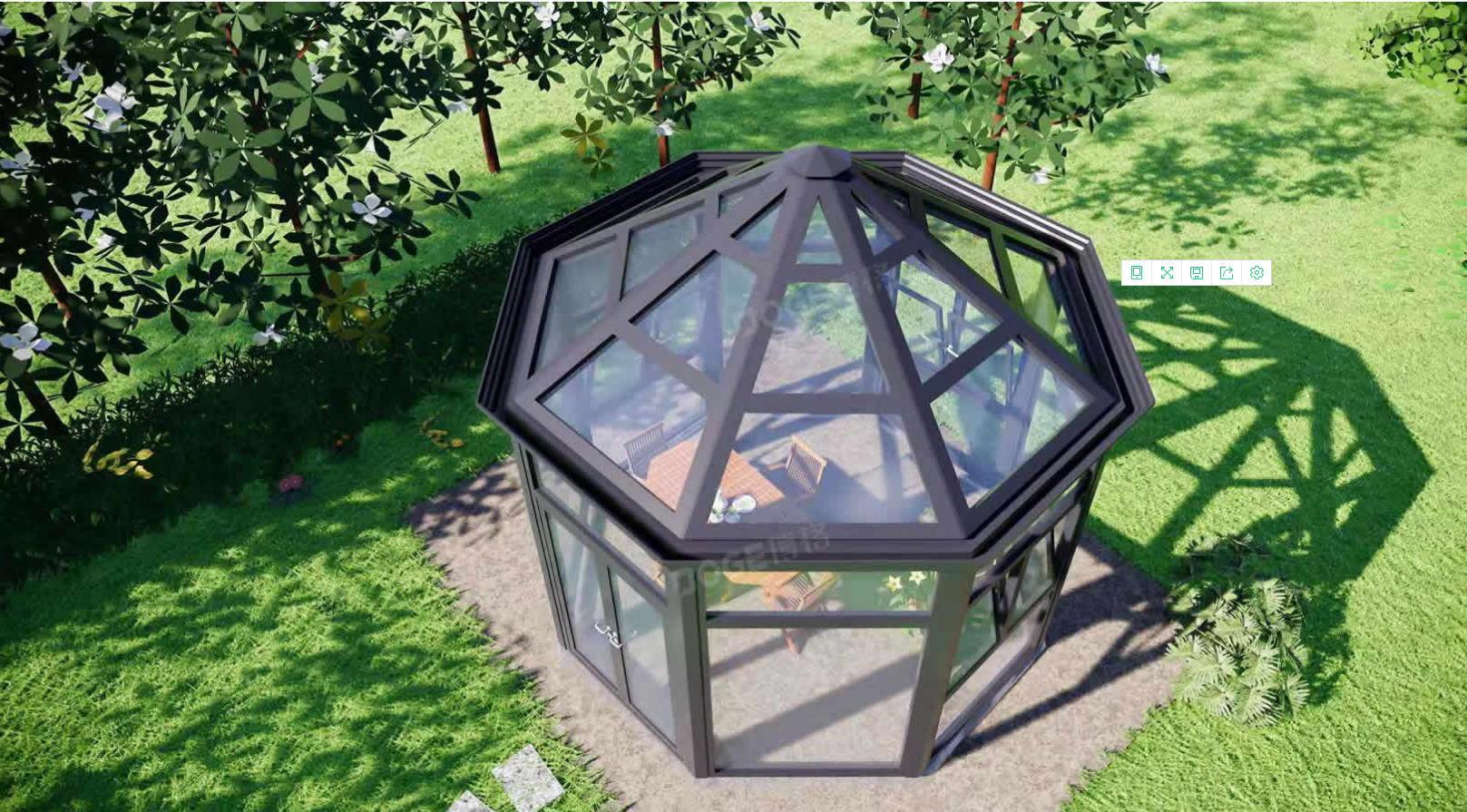 院隔音遮阳玻璃庭院阳光房