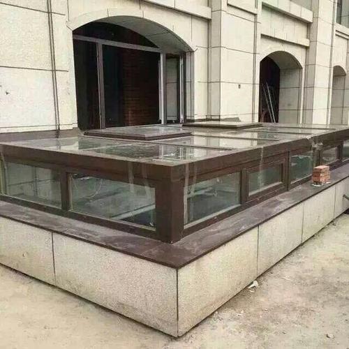 工厂定制花园阳光房地下庭院铝合金钢化玻璃防爆防热