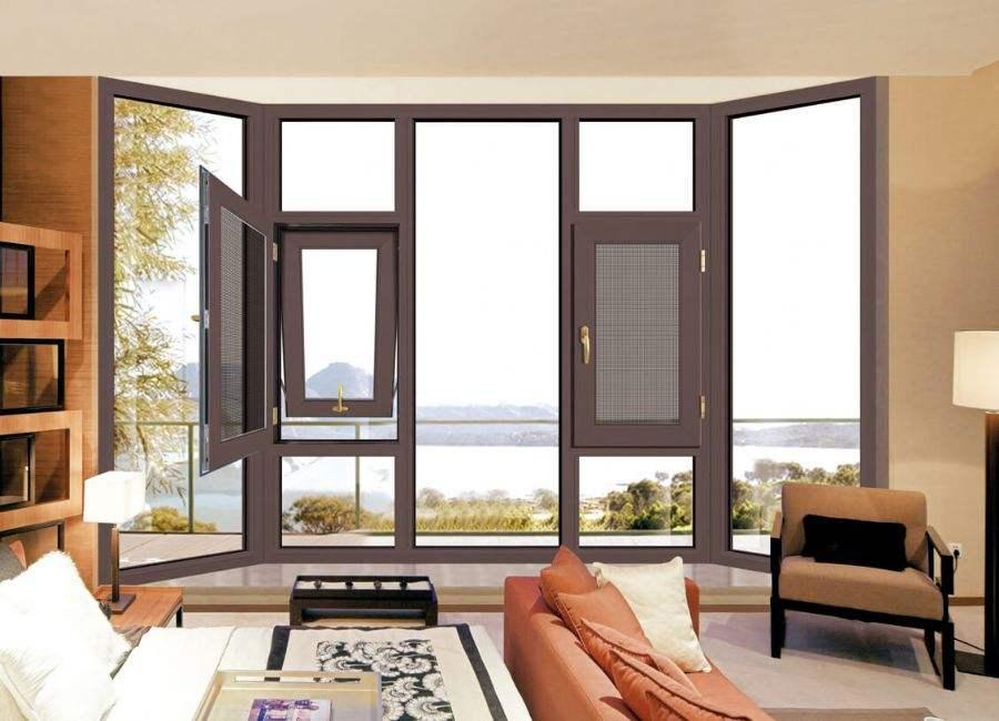 断桥铝门窗封阳台铝合金平开窗定制