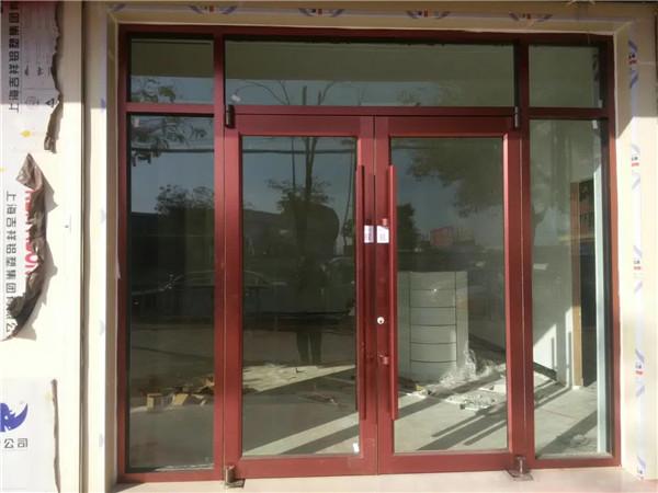 定制酒店肯德基商场售楼部金属红古铜不锈钢门框中空钢化玻璃大门