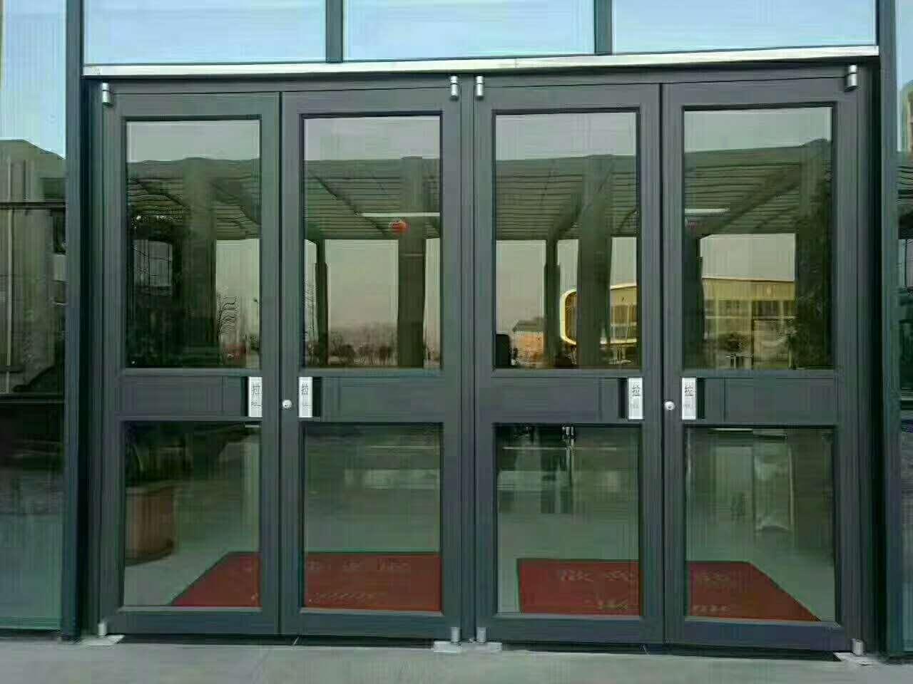肯德基门专用门 中西餐店铺银行推拉铝合金玻璃门地轴门地弹簧门
