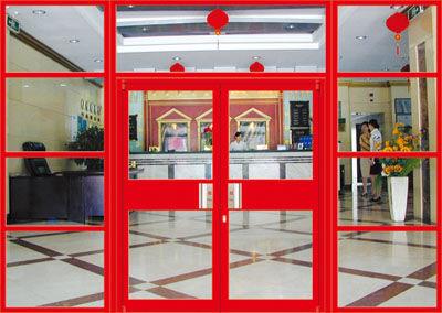 铝合金肯德基门 定制做连锁店铺商务酒店玻璃平开推拉门