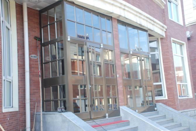 全国定制肯德基门厂家定做加盟店门双开门铝合金商铺店铺门玻璃门
