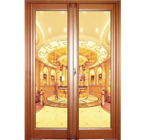 肯德基感应门自动门地弹簧门无框门移门玻璃门铝合金格子大门定制