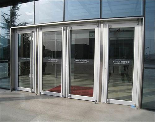 铝合金地弹簧门店铺门玻璃门断桥铝肯德基门