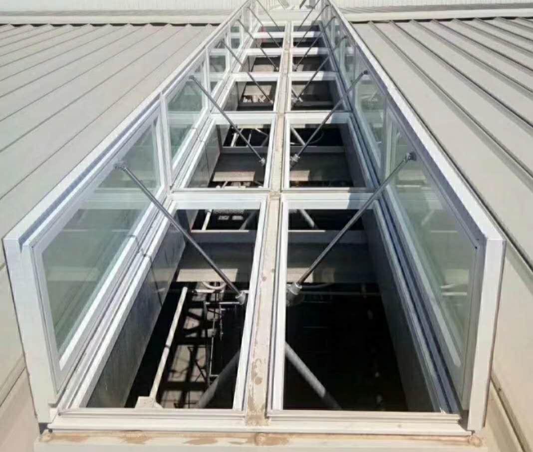 厂家直销电动采光铝合金排烟采光井通风天窗 消防联动窗