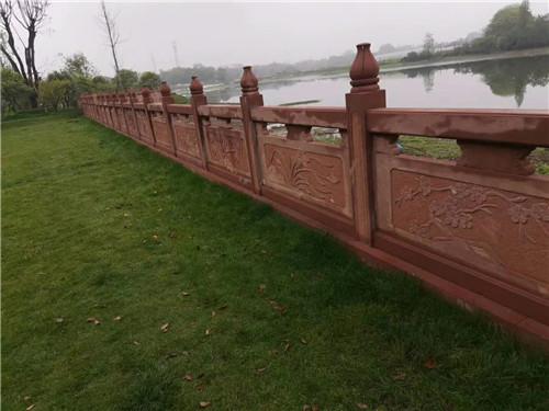 红砂岩雕刻栏杆