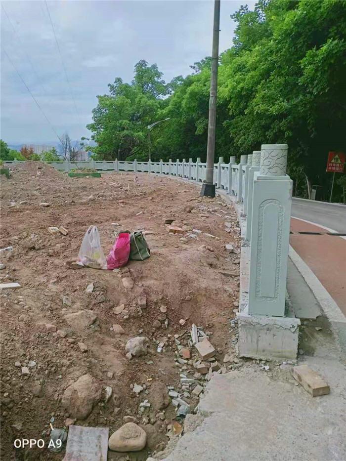 四川青砂石雕刻栏杆工程案例