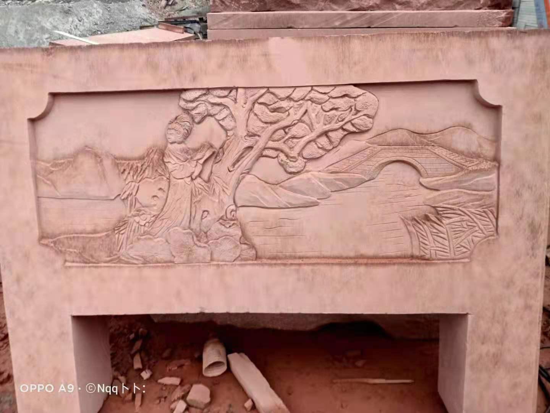 四川紅砂石成功案例—綿陽某景區的紅砂石雕刻