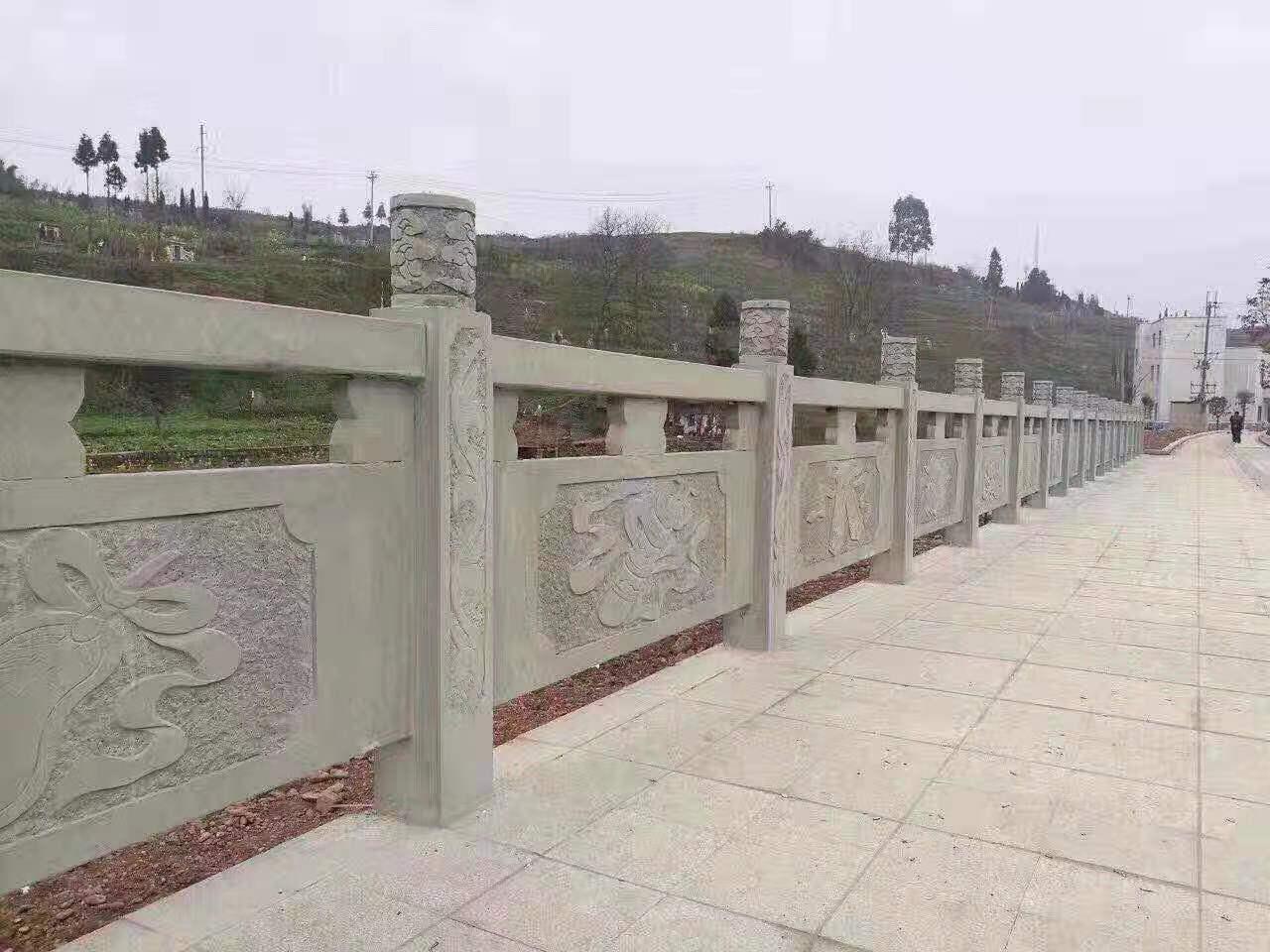 青砂石雕刻欄桿
