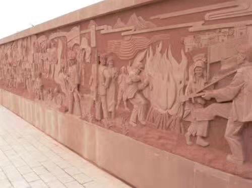 四川红砂石雕塑