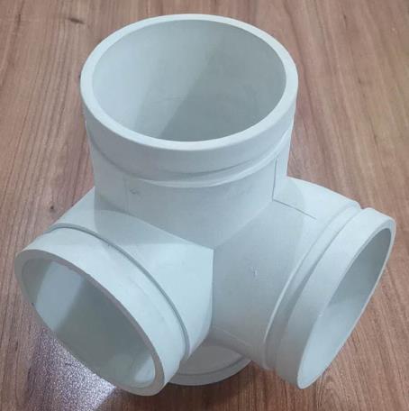 沟槽式排水管件-立体角四通